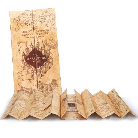 Marauders map, Harry potter,