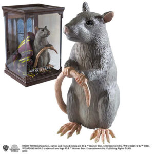 Scabber, Schurfie, ron wemel, Ron weasly rat, Noble collection, Harry Potter